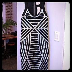 Nicole Miller Atelier black sequin dress